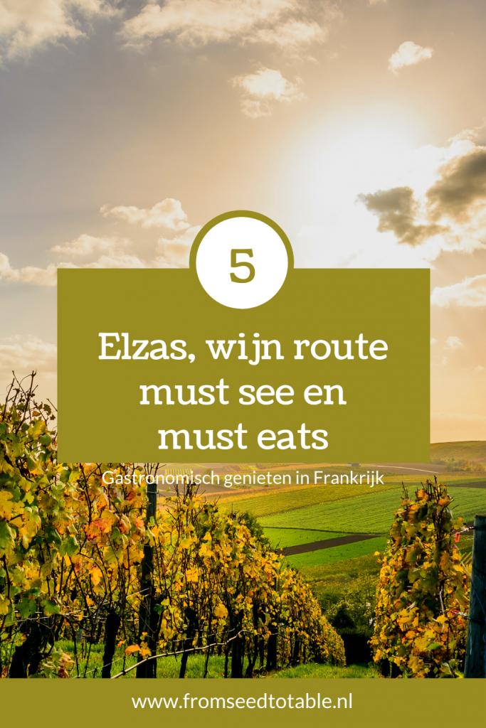 Gastronomisch genieten in Frankrijk fromseedtotable.nl elzas wijn route must see en must eats