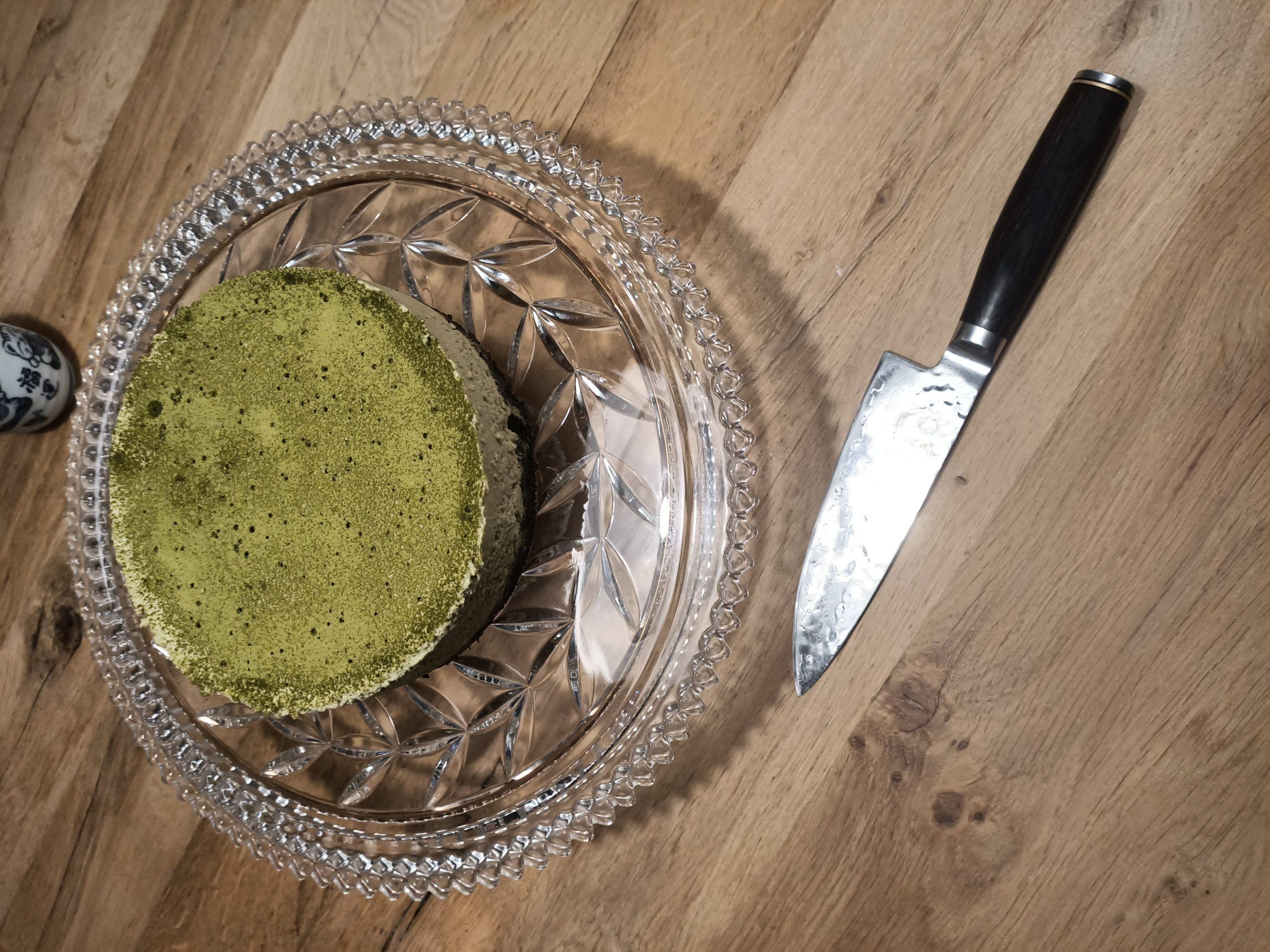 Recept voor no bake Matcha Oreo bavarois taart, zelf taart maken