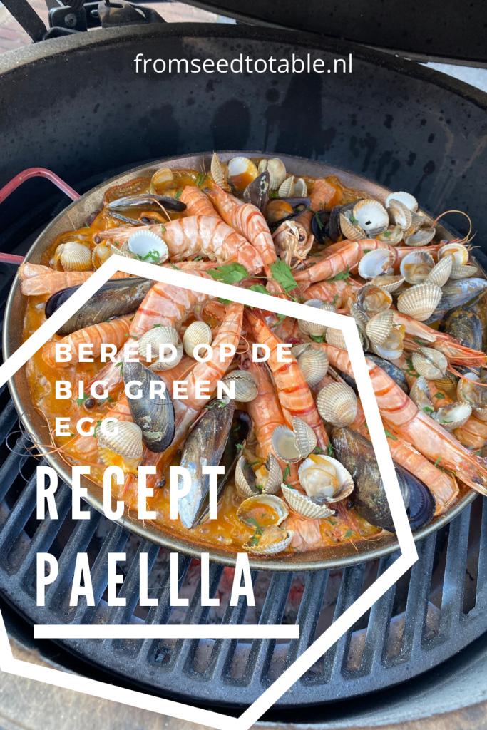 recept paella zelf paella maken op de big green egg